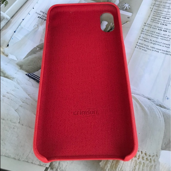 super popular ef779 434d8 iPhone X Luxury Red Leather Case Boutique